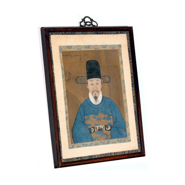 Framed Korean Official Portrait Joseon Dynasty For Sale - Image 4 of 11