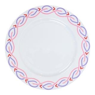 Mally Skok Robberg Dinner Plate, Pink For Sale