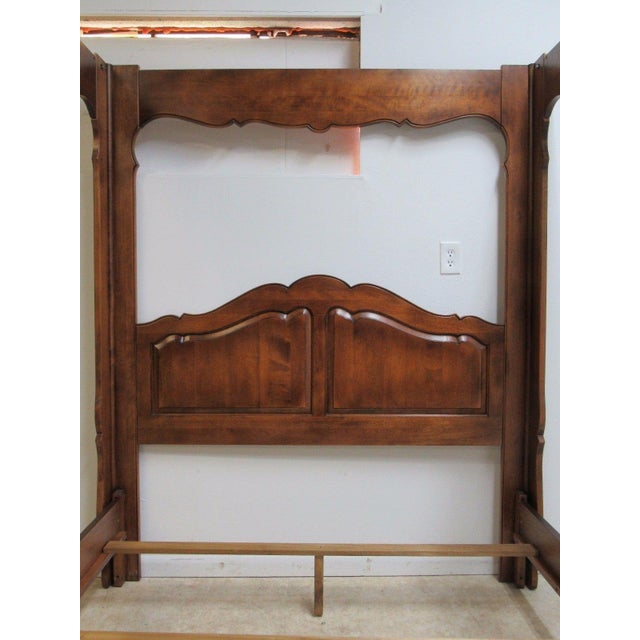 Ethan allen country french queen size canopy bed chairish for Ethan allen country french bedroom