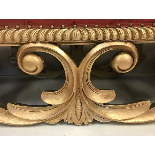 19th Century French Louis XIV Style Giltwood Bench For Sale - Image 4 of 5