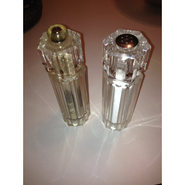 Lucite Vintage Salt and Pepper Mills - Image 2 of 3