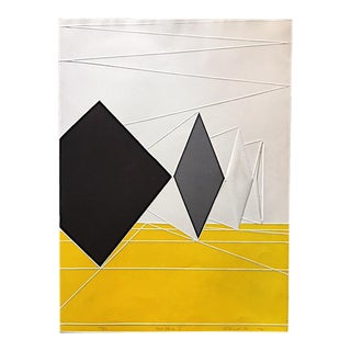 "Yigal Zener ""Open Space I"" OpArt Serigraph Print For Sale"