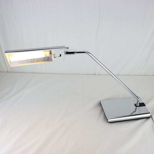 Koch & Lowy Chrome Articulated Desk Lamp 1970's - Image 10 of 11