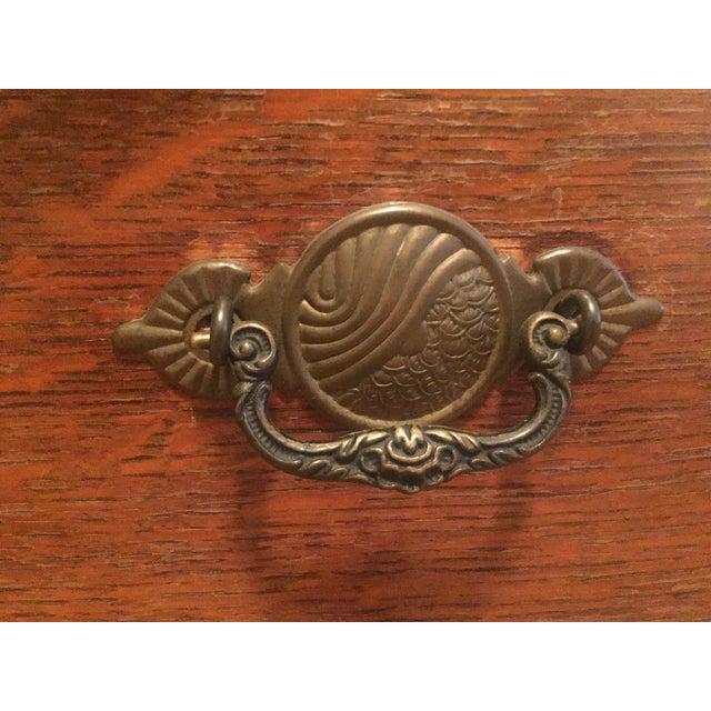 1920s Tiger Oak Dresser For Sale In New York - Image 6 of 7
