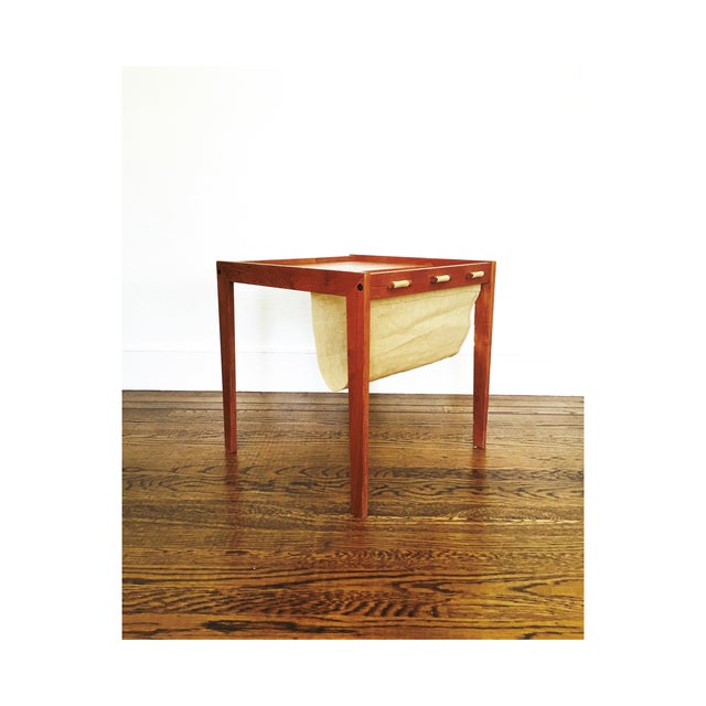 Mid Century Side Table With Magazine Rack - Image 2 of 6