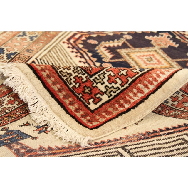 Tribal Antique Persian Sarab Rug With Incredibly Detailed Tribal Design - 3′9″ × 15′4″ For Sale - Image 3 of 11