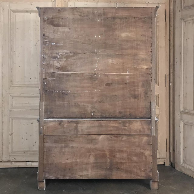 19th Century French Louis Philippe Period Whitewashed Bookcase For Sale - Image 12 of 13