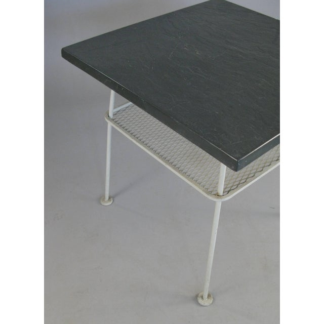 1950s Vintage 1950s Sculptura Wrought Iron Table by Russell Woodard For Sale - Image 5 of 8