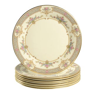 1980s Minton Persian Rose Salad Plate - Set of 8 For Sale