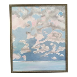 Pink Cloud Sky Original Painting by Natalie Mitchell For Sale