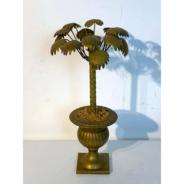 Mid 20th Century Pair of Regency Style Bronze Palmette Urn Candlesticks For Sale - Image 5 of 8