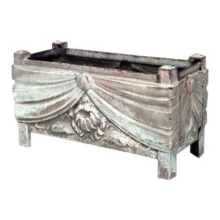 French Art Deco Iron Swag Planter For Sale