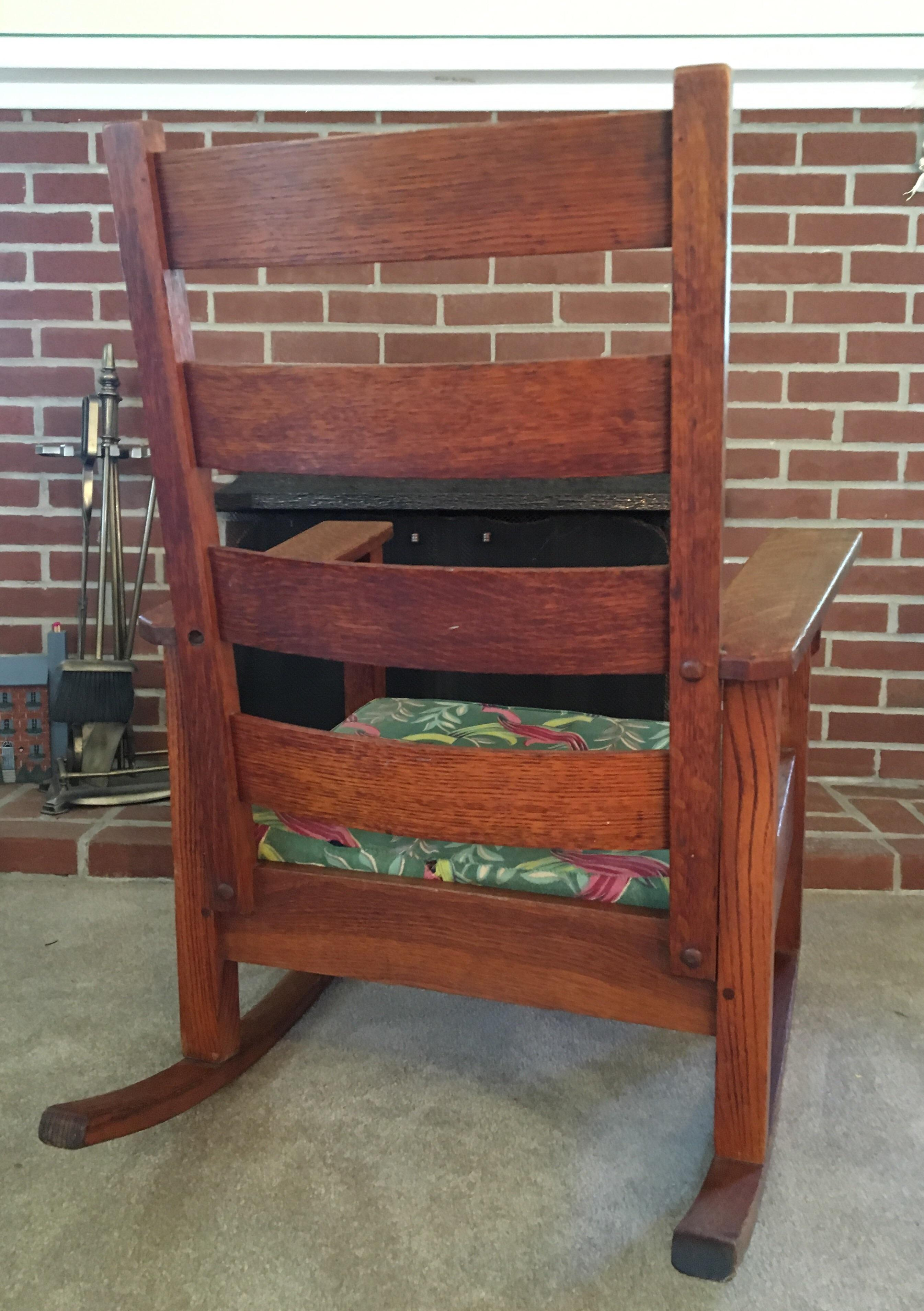Stickley Mission Oak Rocking Chair - Image 3 of 11  sc 1 st  Chairish & Stickley Mission Oak Rocking Chair | Chairish
