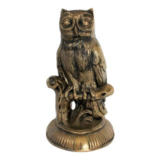 Vintage Cast Owl Bookend For Sale