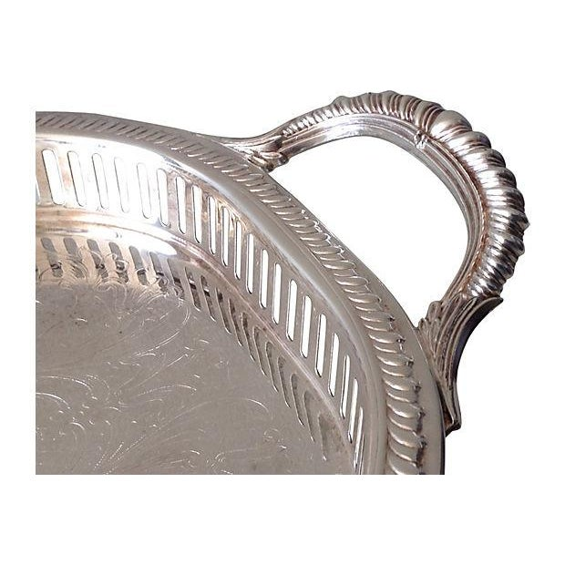 Silver Plate Reticulate Long Server Tray - Image 6 of 7