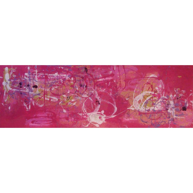Pink Acrylic Painting Titled: Lola & Guillermo II For Sale - Image 8 of 8