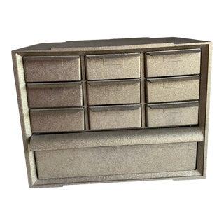 Vintage Metallic Gold Storage Box For Sale
