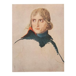 """Bonaparte"" by Jacques-Louis David, 1940s Swiss Photogravure For Sale"