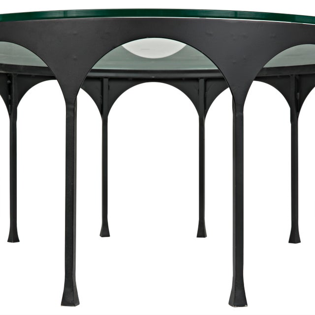 Mid-Century Modern Achille Coffee Table, Matte Black For Sale - Image 3 of 4