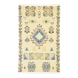Contemporary Moroccan Accent Rug - 03'11 X 06'03 For Sale