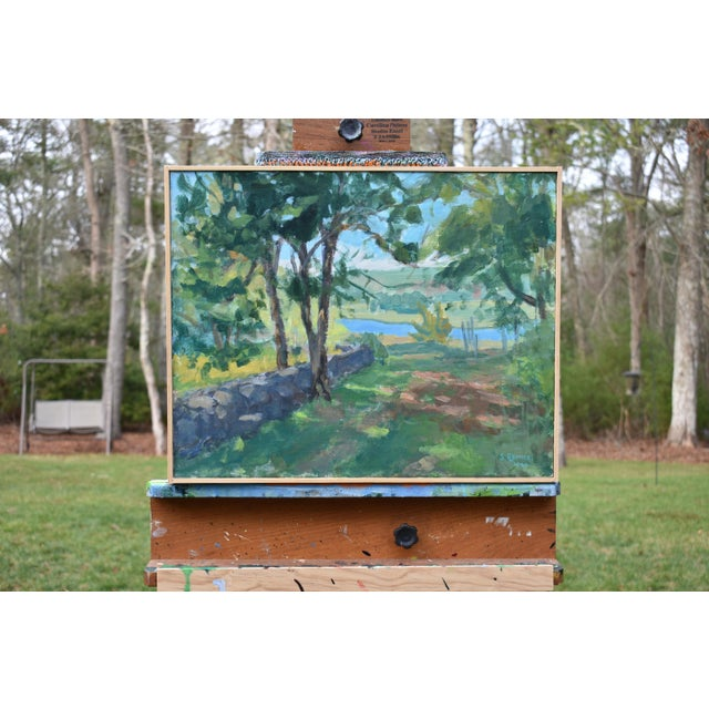 """Canvas """"River View"""" Contemporary Landscape AcrylicPainting by Stephen Remick, Framed For Sale - Image 7 of 10"""