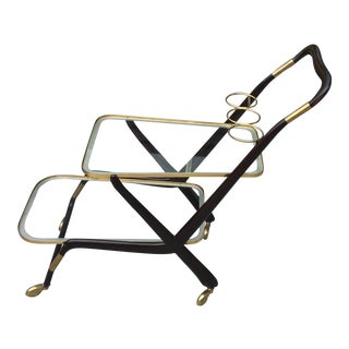 1950s Vintage Italian Cesare Lacca Bar Cart For Sale