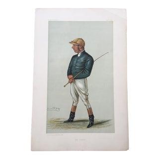 1882 George Fordham Original Vanity Fair Horse Racing / Jockey Print For Sale