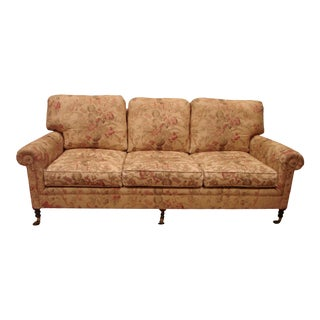 George Smith Scroll Arm Signature Sofa For Sale