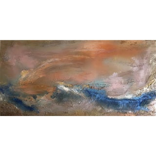 """""""Treasure"""" Original Abstract Seascape Painting For Sale"""
