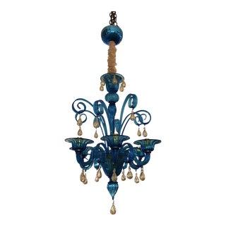 Stige Murano Glass Chandelier For Sale
