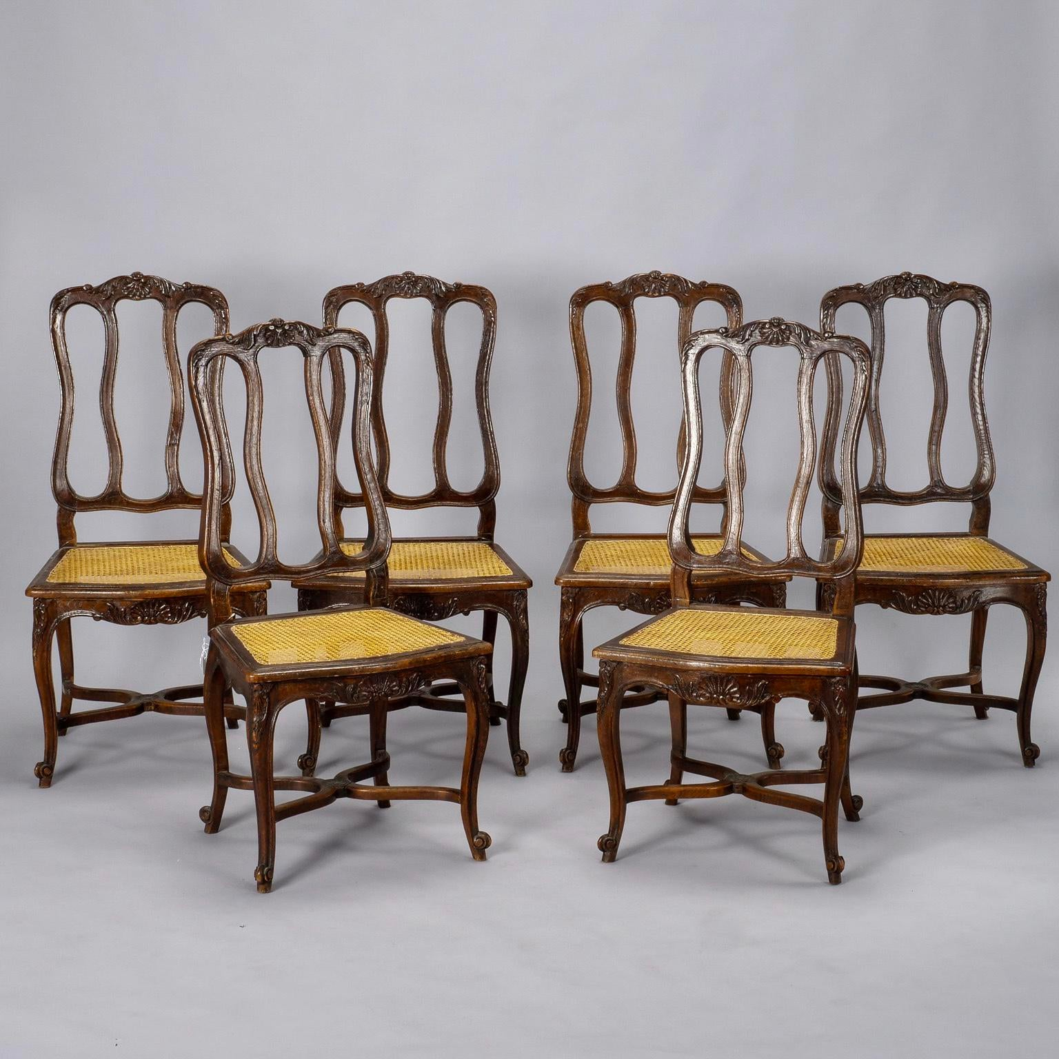 Set Of Ten French Louis XV Style Cane Dining Chairs   Image 2 Of 11