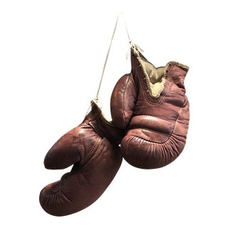 Antique Rustic Boxing Gloves For Sale