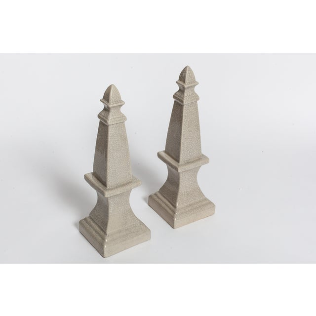 Traditional Ceramic Obelisks - A Pair For Sale - Image 3 of 4