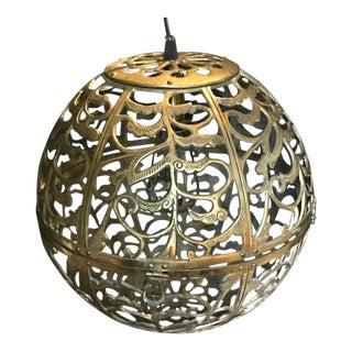 MCM Japanese Solid Brass Karakusa Globe Lantern
