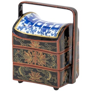 Chinese Lacquered Stacking Boxes For Sale