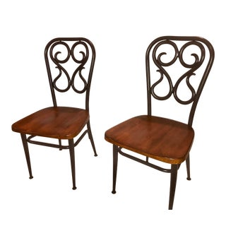Vintage Mid Century Thonet Style Chairs - a Pair For Sale