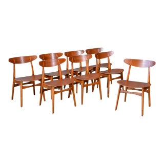 Hans Wegner CH-30 Dining Chairs - Set of 8
