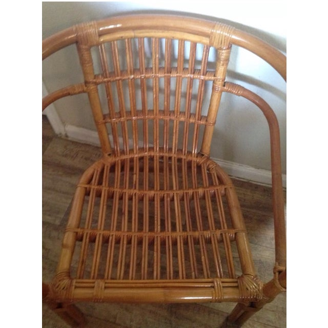 Vintage Mid-Century Rattan Side Chair - Image 4 of 6