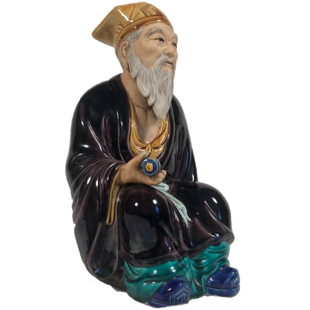 """Vintage Hand Painted Large 12"""" Chinese Mudman Figure This spectacular, high quality large mudman is for the advanced..."""