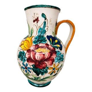 Vintage Italian Signed Water Pitcher Vase For Sale