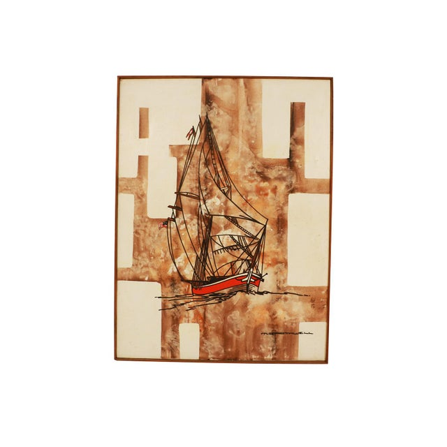 Michael Quincy Rothwell Mid Century Abstract Expressionist Original Oil Painting Signed For Sale - Image 11 of 11