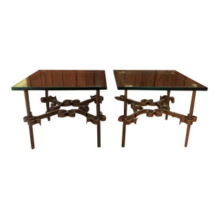 Ornate Metal Spanish End Tables - A Pair For Sale