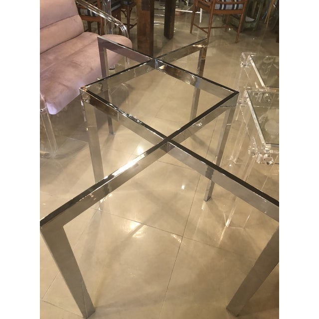 Vintage Milo Baughman Thayer Coggin Chrome Dining Table For Sale - Image 9 of 11