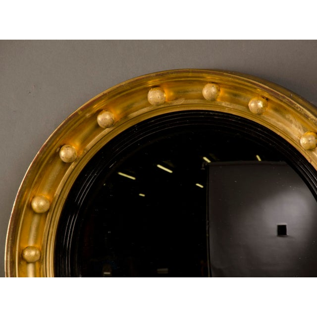 Early 19th Century Antique English Regency Perios Gold Leaf Convex Mirror circa 1825 For Sale - Image 5 of 7