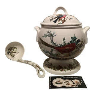 "Portmeirion ""Birds of Britain"" Tureen and Ladle, England For Sale"