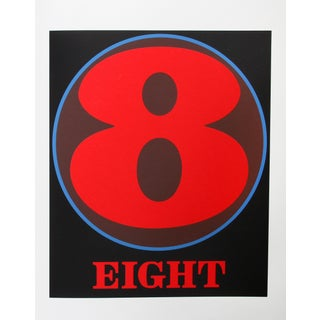 Eight, Serigraph by Robert Indiana For Sale