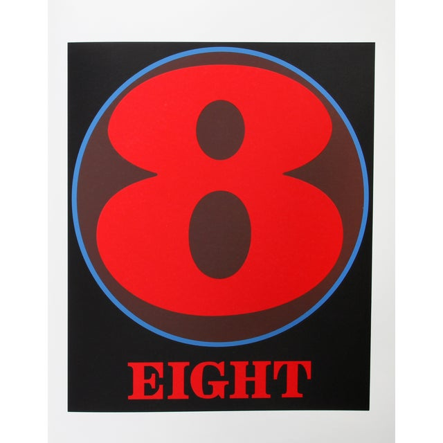 Eight, Serigraph by Robert Indiana - Image 1 of 2