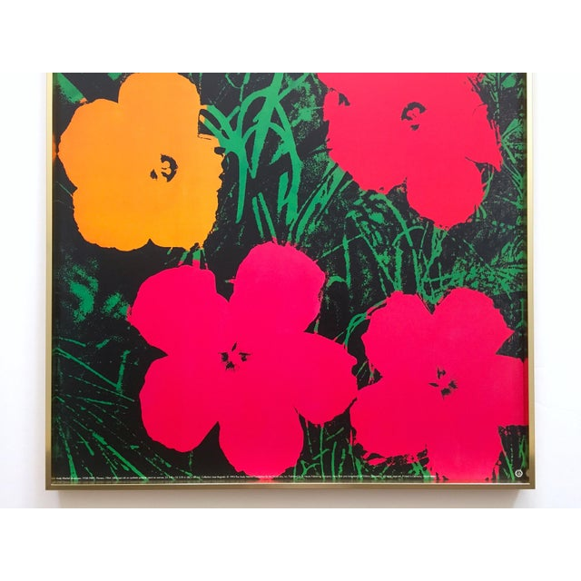 "Mid-Century Modern Andy Warhol Foundation Rare Vintage 1993 Lithograph Print Framed Iconic Pop Art Poster "" Flowers "" 1964 For Sale - Image 3 of 13"