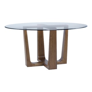 Century Furniture Bowery Place Dining Table with Glass Top, Bowery For Sale