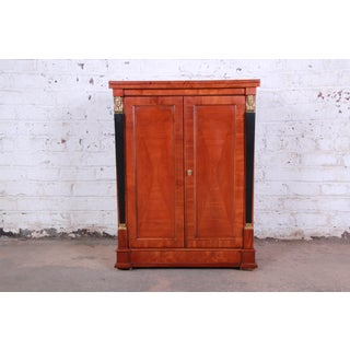 Baker Furniture Palladian Collection Cherry Wood Neoclassical Bar Cabinet Preview